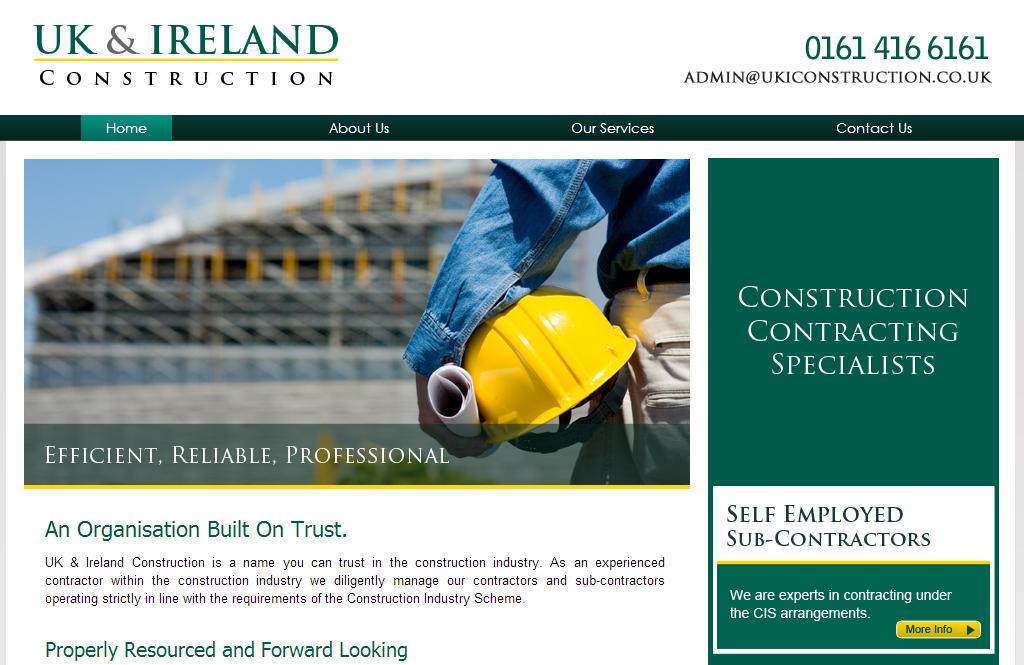uki construction web design