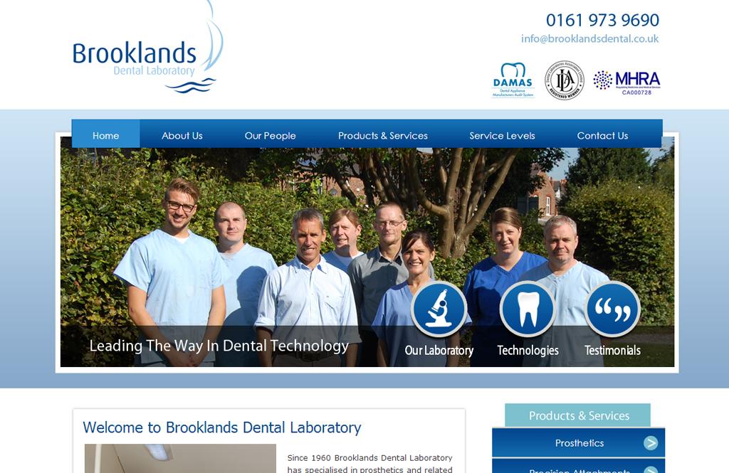 brooklands dental website design