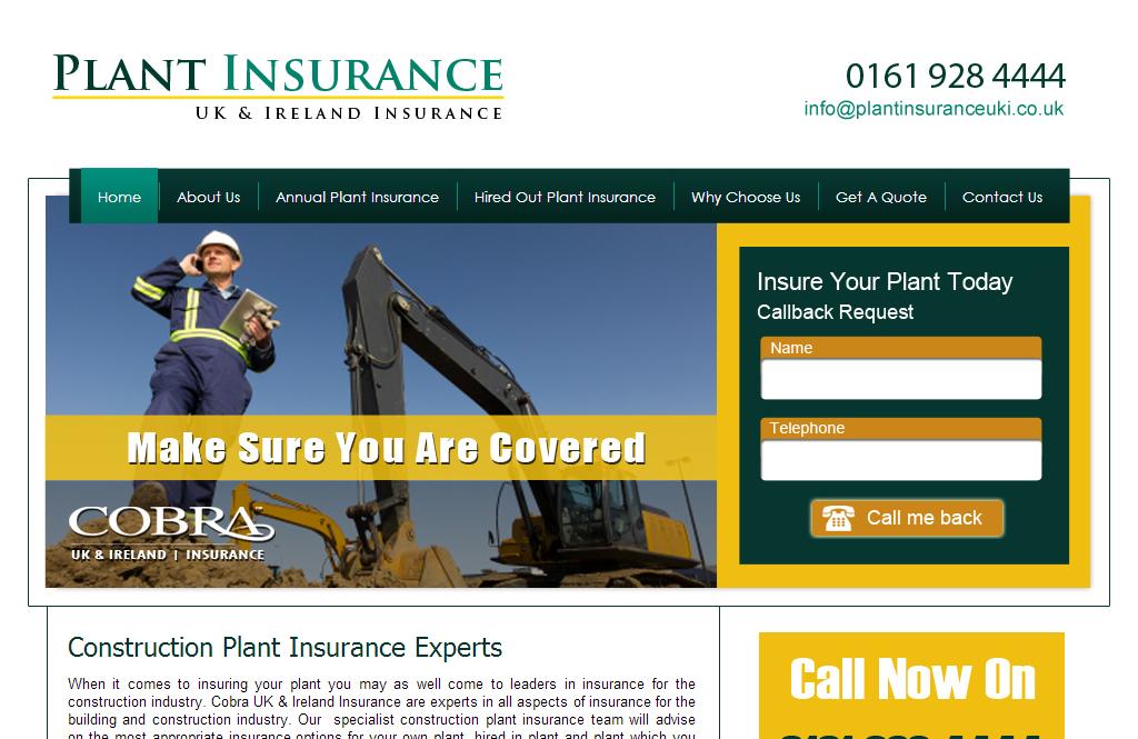 Plant Insurance Website design