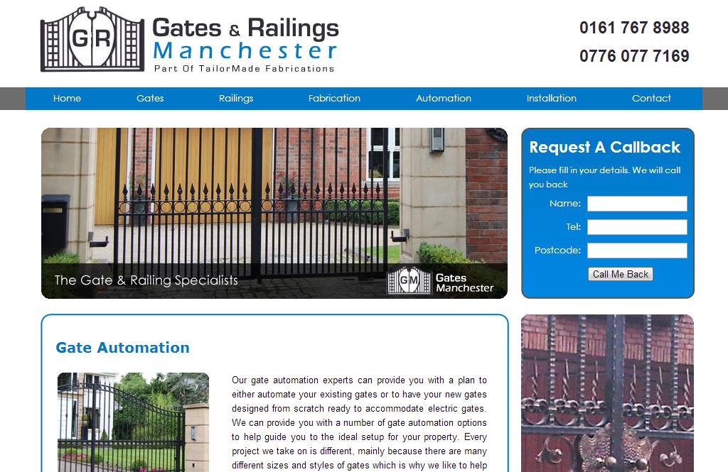 gates manchester website design