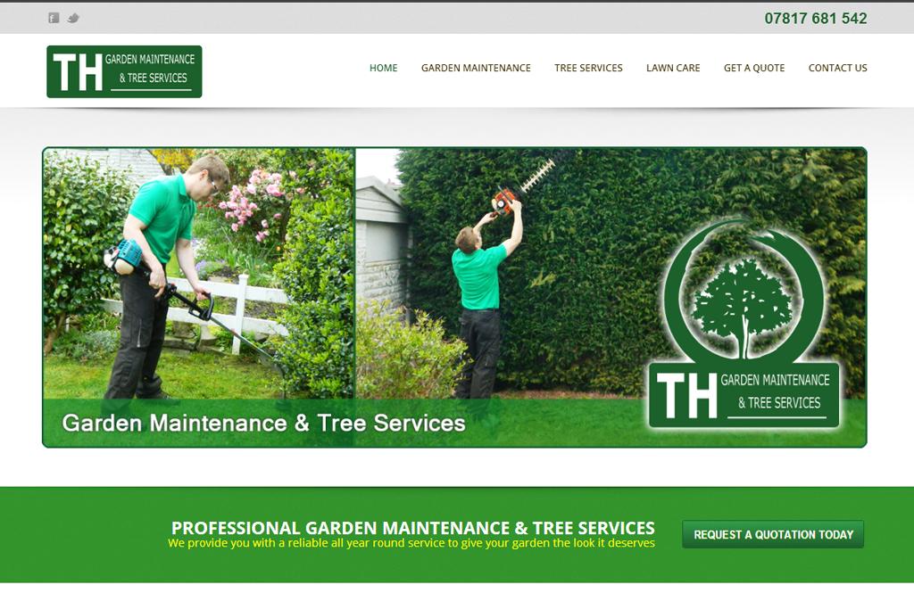 gardeners cheshire website design