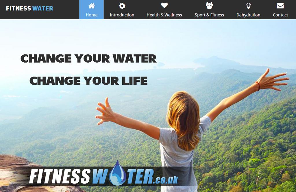 Fitness Water Website Design
