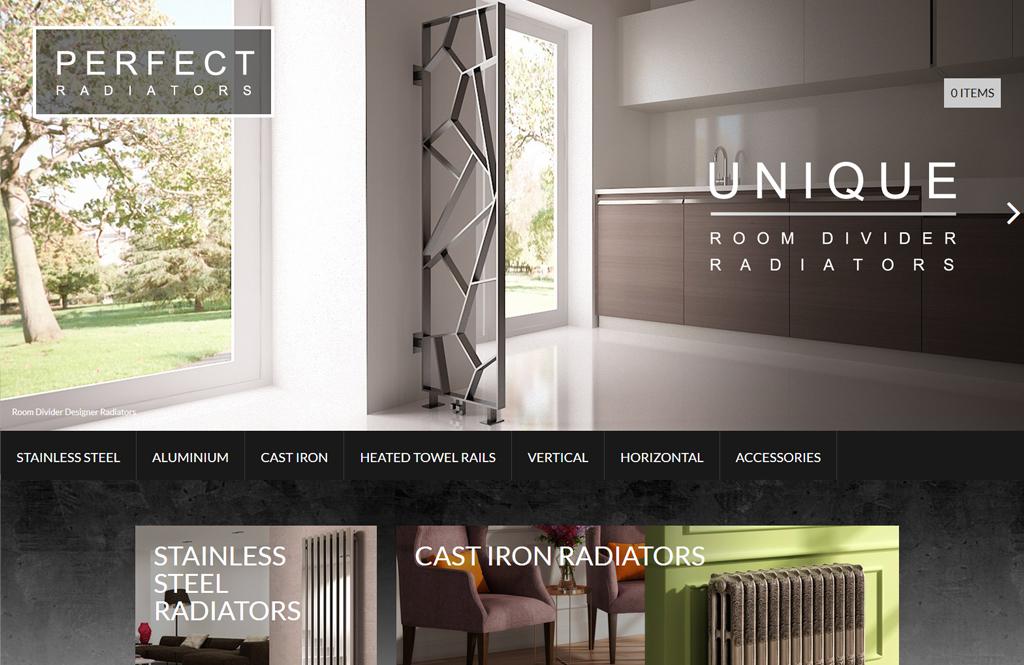 designer radiators website