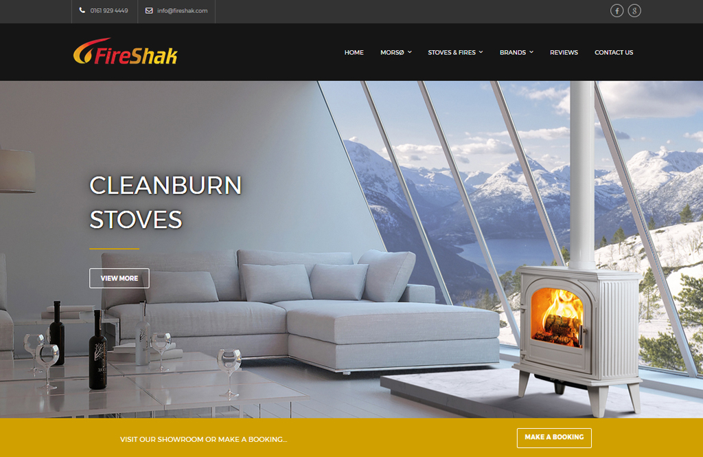 Website Design for fireshak in Altrincham